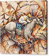 Kaleidoscope Rider Canvas Print