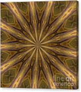 Kaleidoscope With Gold Canvas Print
