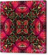 Kaleidscope Made From Image Of Coleus Plant Canvas Print