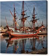 Kalmar Nyckel At Anchor In Salem Ma Canvas Print