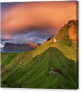 Kalsoy Island And Kallur Lighthouse Canvas Print