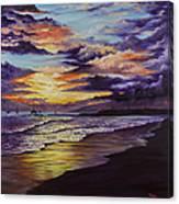 Kamehameha Iki Park Sunset Canvas Print