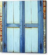 Kampot Blue Shutters Canvas Print