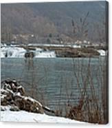 Kanawha Falls - Winter Canvas Print