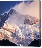 Kanchenjunga From  Goecha La  Canvas Print