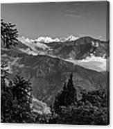 Kanchenjunga Monochrome Canvas Print