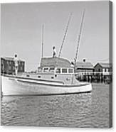 Kandy Of Barnstable Harbor 1950's Canvas Print