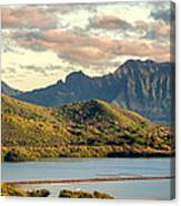Kaneohe Bay Panorama Mural 1 Of 5 Canvas Print
