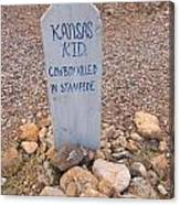 Kansa Kid Killed In A Stampede Canvas Print