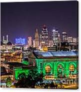 Kansas City In Lights Canvas Print
