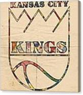 Kansas City Kings Retro Poster Canvas Print