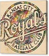 Kansas City Royals Logo Vintage Canvas Print