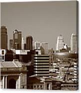 Kansas City Skyline 10 Canvas Print
