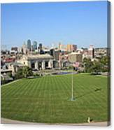 Kansas City Skyline And Park Canvas Print
