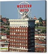 Kansas City - Western Auto Building 2 Canvas Print