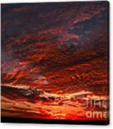Kansas Prairie Sunset Canvas Print