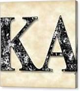 Kappa Alpha Society - Parchment Canvas Print