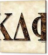 Kappa Delta Phi - Parchment Canvas Print