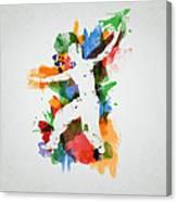 Karate Fighter Canvas Print