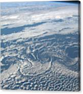 Karman Vortex Cloud Streets From Space Canvas Print