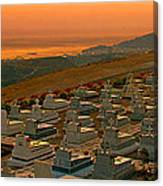 Karpathos Graveyard Canvas Print