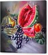 Karpuzlu Naturmort Canvas Print