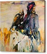 Kasak With Falcon Canvas Print
