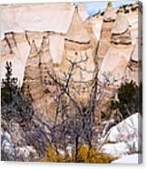 Kasha Katuwe Tent Rocks In The Winter Snow Canvas Print