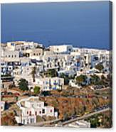Kastro Village In Sifnos Island Canvas Print