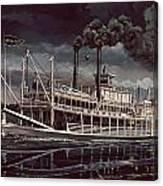 Spread Eagle Steamboat Night Canvas Print