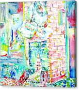 Kate Middleton Portrait.3 Walking In The Street Canvas Print