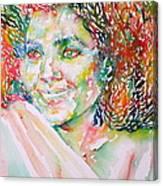 Kathleen Battle - Watercolor Portrait Canvas Print