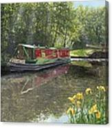 Kathleen May Chesterfield Canal Nottinghamshire Canvas Print