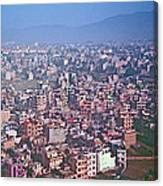 Kathmandu From The Airplane-nepal  Canvas Print