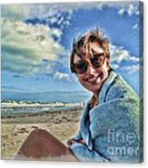 Katie And The Beach Canvas Print
