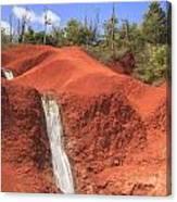 Kauai Red Dirt Waterfall Canvas Print
