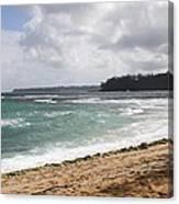 Kauai Shore Looking South Canvas Print