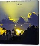 Kauai Sunset Psalm 36 5 Canvas Print