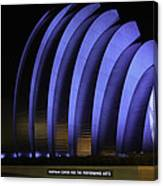 Kauffman Center Of Performing Arts During All-star Week Canvas Print
