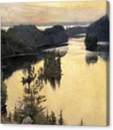 Kaukola Ridge At Sunset Canvas Print