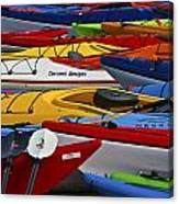 Kayak Explosion Canvas Print