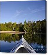 Kayak On Calm Lake Canvas Print
