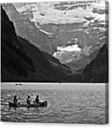 Kayak On Lake Louise Canvas Print