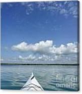 Kayak On Lake Ontario Canvas Print
