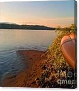 Kayak On The Hudson Canvas Print