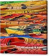 Kayak Spectrum Canvas Print