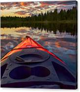 Kayak Sunset Canvas Print