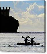 Kayaking Across The Bay Canvas Print