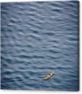 Kayaking Alone Canvas Print