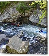 Kayaking Baby Falls Canvas Print